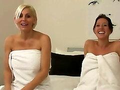 Two preggo girls and shaving
