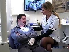 Jessie Volt naughty dentist gets torn up in anal