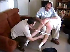 ENF Spanking two elder men spanking wife humiliating positions