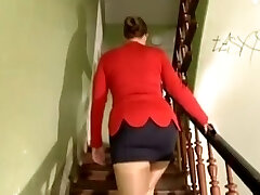 Busty German girl gangbanged for paints