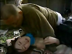 Japanese love story with this tiny teen nailed by older guy