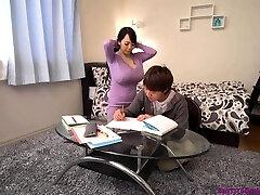 Busty asian tutor huge boobs