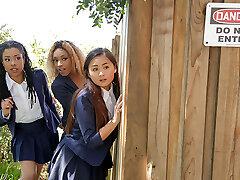 Kira Noir & Chad Milky in Punishing The Pool Hopper - TeensLoveHugeCocks