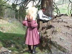 german MILF likes anal in nature