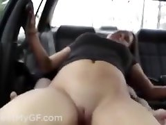 College girl fuck in her car