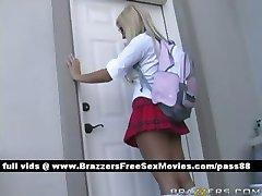 Two amazing schoolgirls go to the teachers office