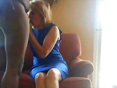 Older women gets fucked by her black lover