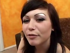cutie sucks fucks and swallows cumshot