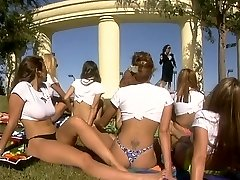 Hot orgy in action outdoors