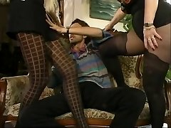 MFF Steve got involved with two hot MILFs in pantyhose