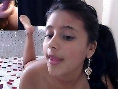 Hot petite Latina cam girl makes me cum