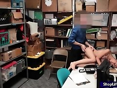 Shoplifter Aurora fucked by LP officer in the backroom