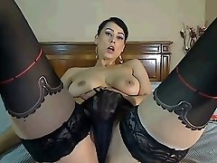Chaturbate Webcam Girl Plays with Tits and Cooch