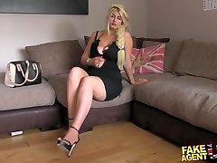 FakeAgentUK Blonde wannabe loves sucking and boning