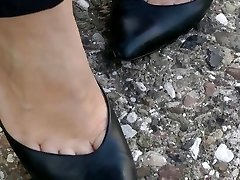 shoeplay in classical heels compilation