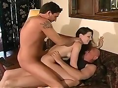 Sexy Wife Takes On Trio Big Sausages