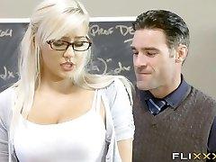 Sumptuous Blonde Teen School Girl