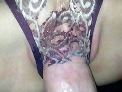 Wet Panty Banging, ripped a hole with my dick - Lydia and Aaron