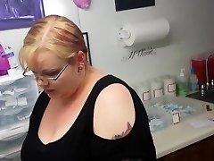 goth chick gets her nipple pierced