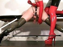 My slave female dominance video - Milking my rubber slut