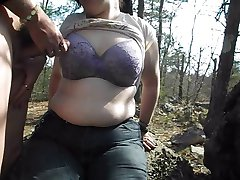 Tranny cum on friend's bra and tits