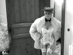 Cougar Milf v Najlonke Podvezice Pasovi Visoke Pete, Črpalke, Krzno, krzneni izdelki Analni