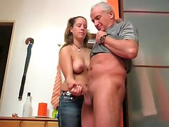 Busty Teen Makes Him Cream !