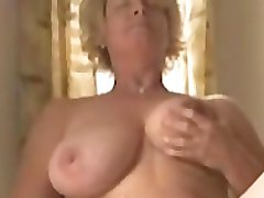 Mature with a Huge Dildo