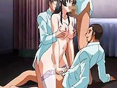 Väike Anime Neiu Threesome Cartoon XXX