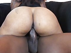 Chubby ass bouncing while fucked