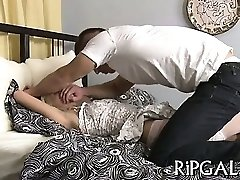 Arse of girl is fucked
