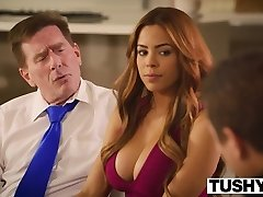 TUSHY First Anal Invasion For Latin Beauty Luna Starlet