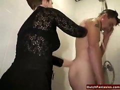 Ugly Dutch Granny Fucks Office Man