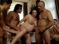 daddy's Buddies Gangbang his pregnant daughter