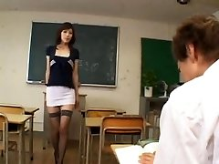 Horny asian teacher - uncensored