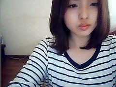 web cam üzerinde Koreli kız