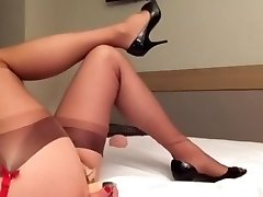 nogavice analni dildo vraga crossdresser