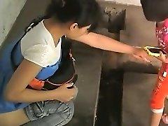 hiina daamid vana avaliku wc