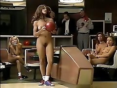 Jacqueline Lovell and other busty honeys go bowling in the naked