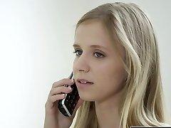 BLACKED Petite blonde teenager Rachel James first enormous black cock