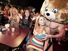 Pretty Faces Get Plumbed By The Dancing Teddy