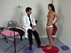 French doctor performs a full corporal exam