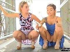 nasty public UPSKIRT girls