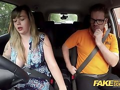 Fake Driving School Massive Brit funbags one last lesson