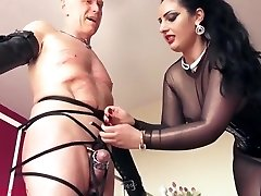Mistress ly Lets Her Victim Cum