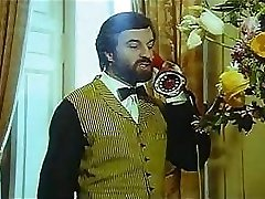 Vintage porn movie with bearded guy slamming local call girl