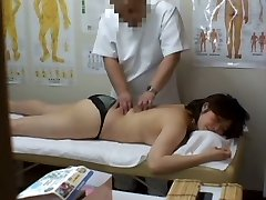 Medical voyeur rubdown movie starring a plump Asian wearing black panties