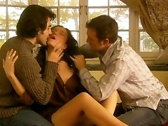 Jennifer Podemski - Blessing (Threesome erotic scene) MFM