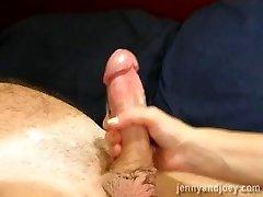 Slow sexy lube handjob