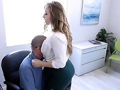 TeamSkeet - Big-boobed and Hairy Office Honey Fucked By Colleague